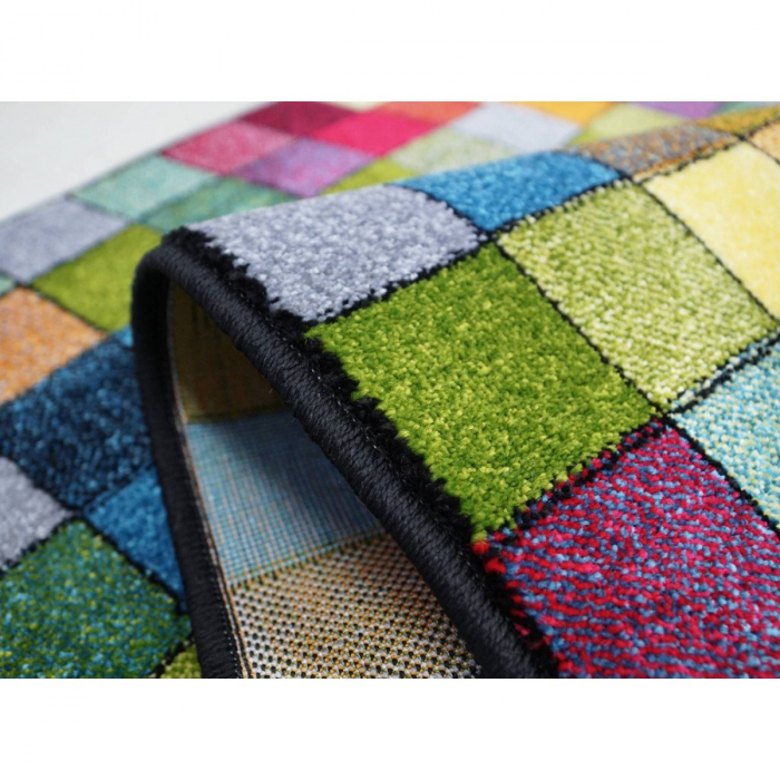 Covor Kolibri Patratele 11161-130, Multicolor, 80x150 cm, 2300 gr/mp 6