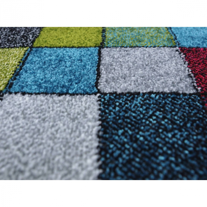 Covor Kolibri Patratele 11161-130, Multicolor, 80x150 cm, 2300 gr/mp 7