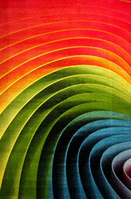 Covor Modern, Kolibri Spiral, Multicolor, 80x150 cm, 2300 gr/mp [0]