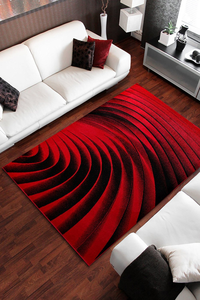 Covor Modern, Kolibri Spiral, Rosu, 160x230 cm, 2300 gr/mp [1]