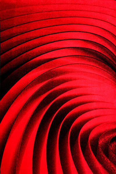 Covor Modern, Kolibri Spiral, Rosu, 200x300 cm, 2300 gr/mp [0]