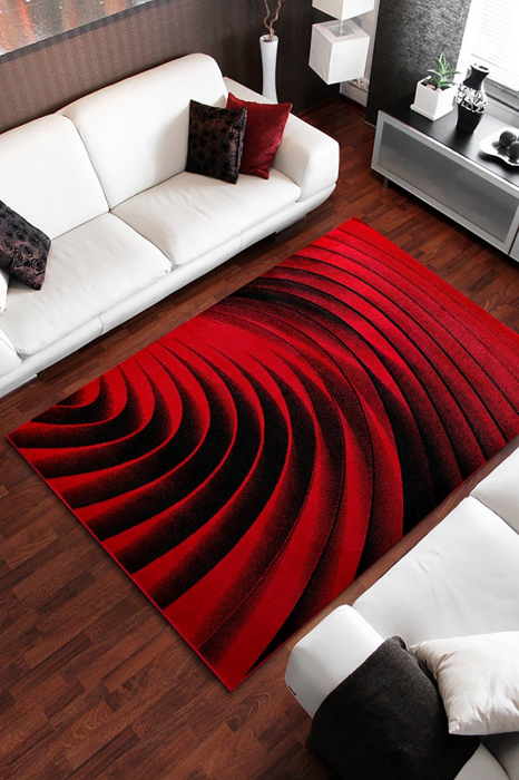 Covor Modern, Kolibri Spiral, Rosu, 80x150 cm, 2300 gr/mp [1]