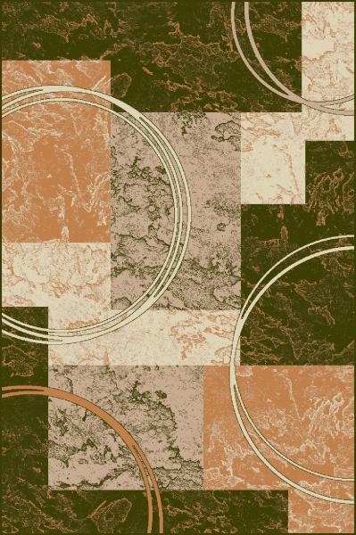 Covor Modern, Lotos 15001, Verde, 200x300 cm, 1800 gr/mp, 2x3 m 0