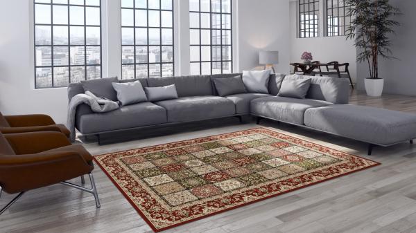 Covor Modern, Lotos 1518, Rosu, 250x350 cm, 1800 gr/mp 1