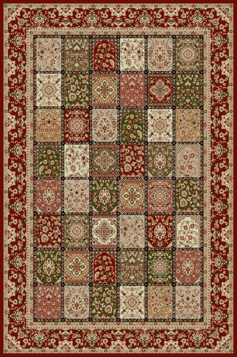 Covor Modern, Lotos 1518, Rosu, 60x110 cm, 1800 gr/mp, 0.6x1.1 m. 0