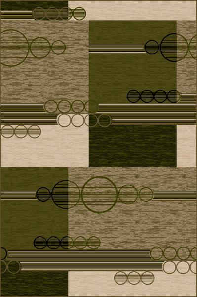 Covor Modern, Lotos 1566, Verde, 200x300 cm, 1800 gr/mp 0