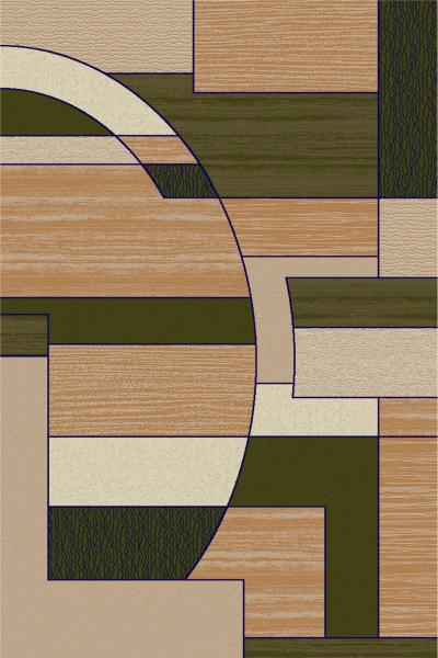Covor Modern, Lotos 538, Verde, 80x150 cm, 1800 gr/mp [0]