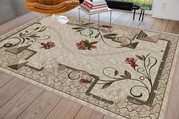 Covor Modern, Lotos 587, Crem, 80x150 cm, 1800 gr/mp 1