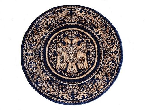 Covor Lotos, Model Bisericesc, 15032, Albastru, Rotund, 150x150 cm, 1800 gr/mp 1