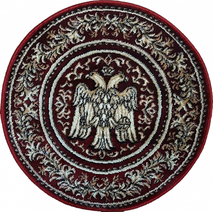 Covor Lotos, Model Bisericesc, 15032, Rosu, Rotund, 67x67 cm, 1800 gr/mp [0]