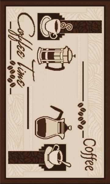 Covor pentru bucatarie, Natura Coffee Time, 100x200 cm, 1500 gr/mp [0]