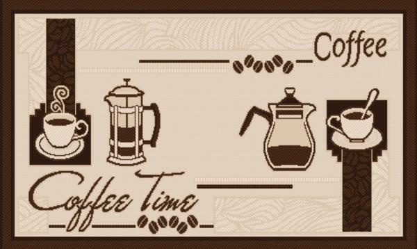 Covor pentru bucatarie, Natura Coffee Time, 100x200 cm, 1500 gr/mp [1]