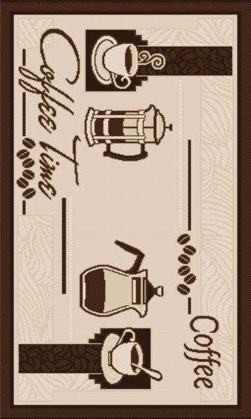 Covor pentru bucatarie, Natura Coffee Time, 120x170 cm, 1500 gr/mp 0