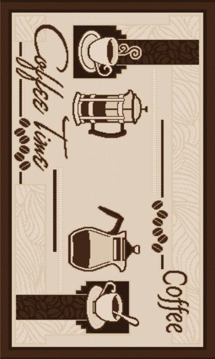 Covor pentru bucatarie, Natura Coffee Time, 140x200 cm, 1500 gr/mp 0