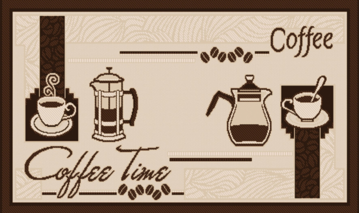 Covor pentru bucatarie, Natura Coffee Time, 140x200 cm, 1500 gr/mp 1