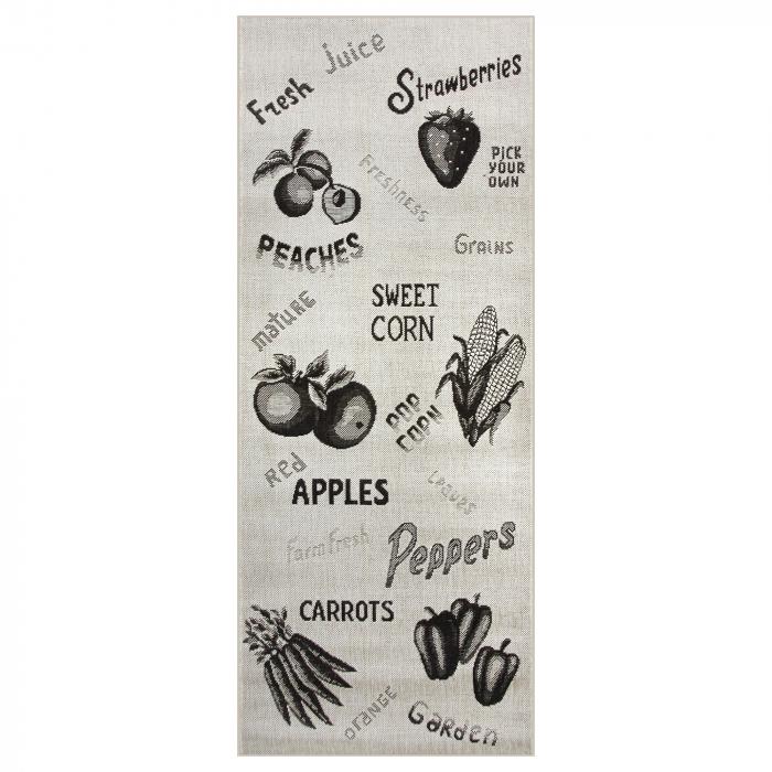 Covor pentru bucatarie, Natura Fruits and Veggies, 100x200 cm, 1500 gr/mp [3]