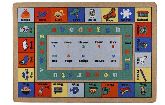 Covor Pentru Copii, Antiderapant, Lesson, Multicolor, 100x150 cm, 1282 gr/mp [0]