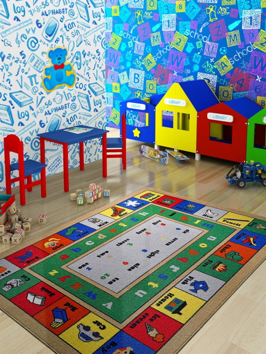 Covor Pentru Copii, Antiderapant, Lesson, Multicolor, 100x150 cm, 1282 gr/mp [1]