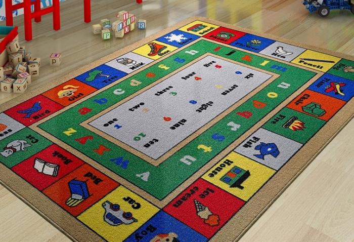 Covor Pentru Copii, Antiderapant, Lesson, Multicolor, 100x150 cm, 1282 gr/mp [2]
