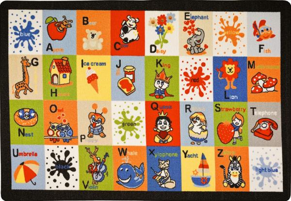 Covor Pentru Copii, Antiderapant, Letter Blocks, 200x290 cm, 1282 gr/mp 0