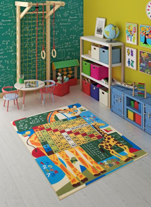 Covor Pentru Copii, Antiderapant, Math Class, Multicolor, 133x190 cm, 1632 gr/mp 1