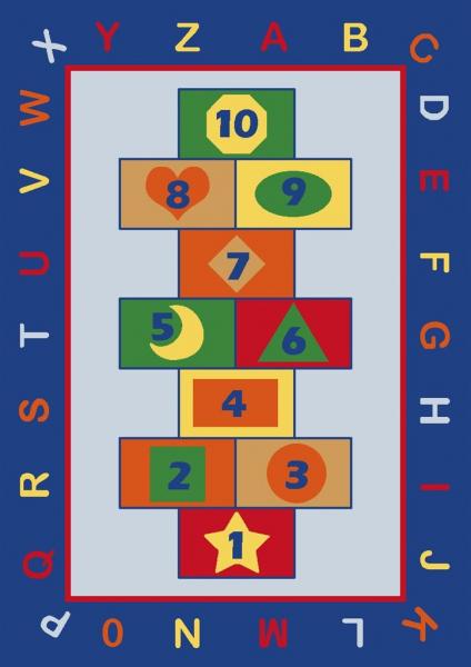 Covor Pentru Copii, Antiderapant, Sotron, Albastru, 100x150 cm, 1282 gr/mp [0]