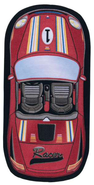Covor Pentru Copii, Antiderapant, First Racer, Rosu, 100x200 cm, 1432 gr/mp 0