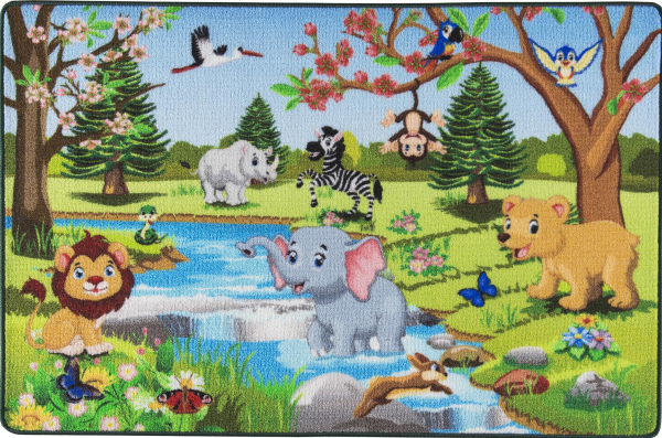 Covor Pentru Copii, Antiderapant, Spring Time, 1275 gr/mp 0