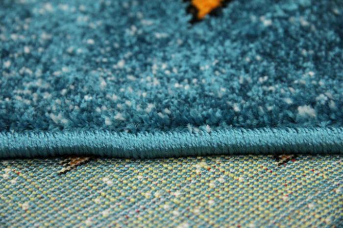 Covor Pentru Copii, Kolibri Animalute 11058, Albastru, 80x150 cm, 2300 gr/mp 7