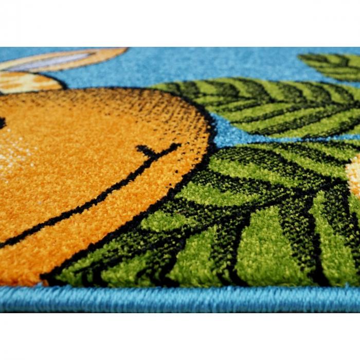 Covor Pentru Copii, Kolibri Animalute 11058, Albastru, 80x150 cm, 2300 gr/mp 4