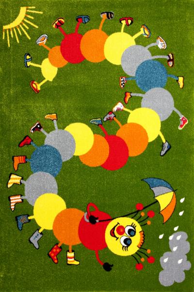 Covor Pentru Copii, Kolibri Omida 11057, Verde, 240x340 cm, 2300 gr/mp [0]