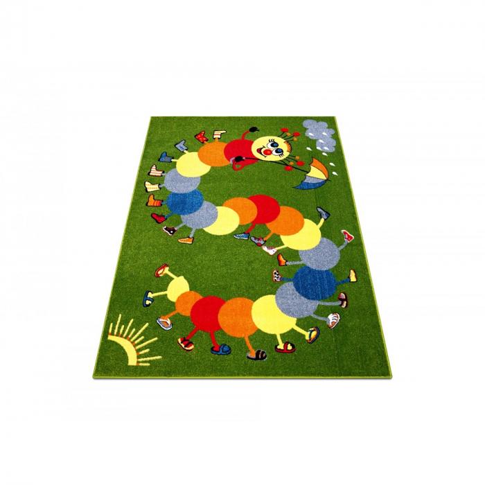 Covor Pentru Copii, Kolibri Omida 11057, Verde, 80x150 cm, 2300 gr/mp [1]