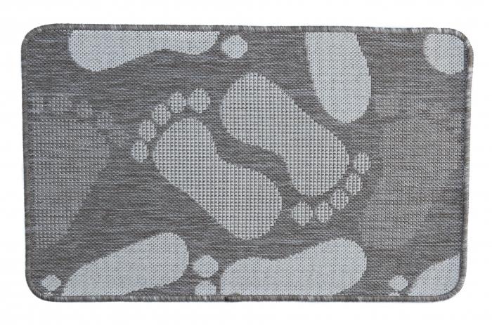 Covor Pentru Usa Intrare, Flex 19614-111, Antiderapant, Maro/Bej, 50x80 cm [0]