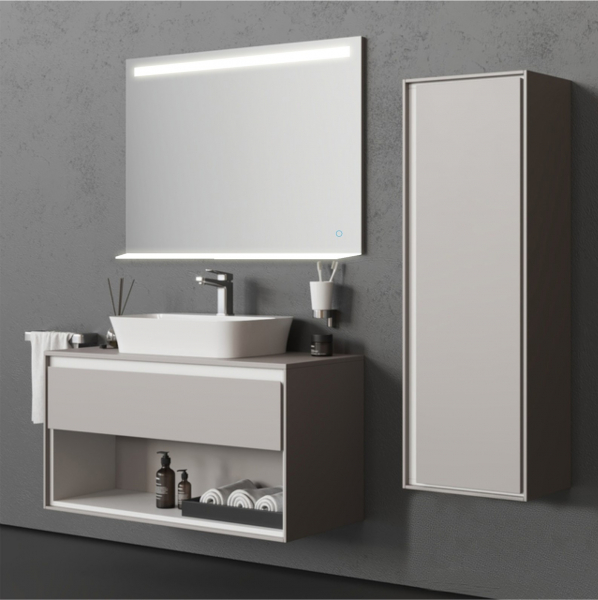 Oglinda cu Iluminare si Polita Iluminata, GenesIs, 800x800x4 mm [3]