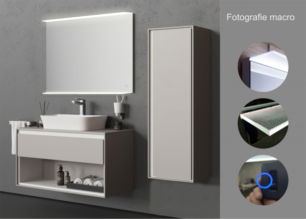 Oglinda cu Iluminare si Polita Iluminata, Spectra Plus, 800x900x4 mm [3]