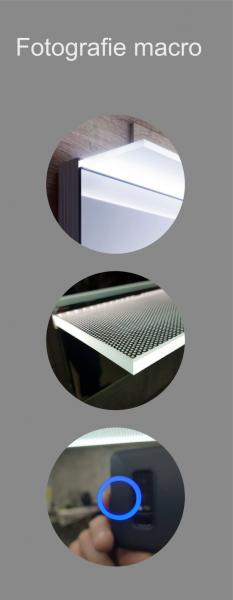 Oglinda cu Iluminare si Polita Iluminata, Spectra Plus, 800x600x4 mm 5