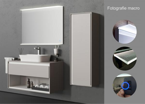 Oglinda cu Iluminare si Polita Iluminata, Spectra Plus, 800x750x4 mm [3]