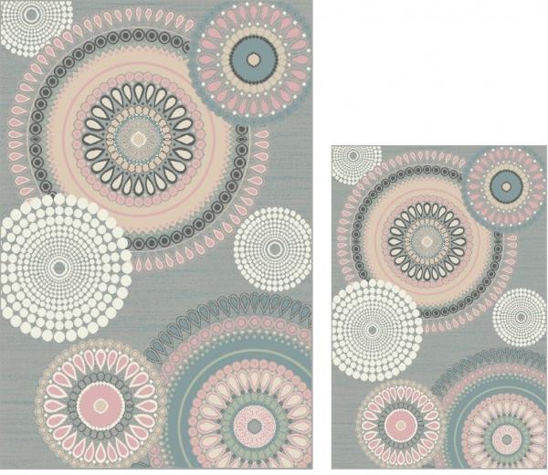 Set 2 Covoare Dream 18024-190, Multicolor: 1 buc. 120x170 cm, 1 buc. 160x230 cm. [0]