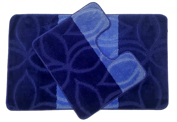 Set 2 covorase baie Erdek D. Blue, 60x100 cm, 50x60 cm 0
