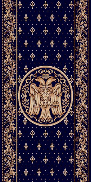 Traversa Covor, Lotos 15032, Albastru, Model Bisericesc, Latime 100 cm, Diverse Lungimi [0]