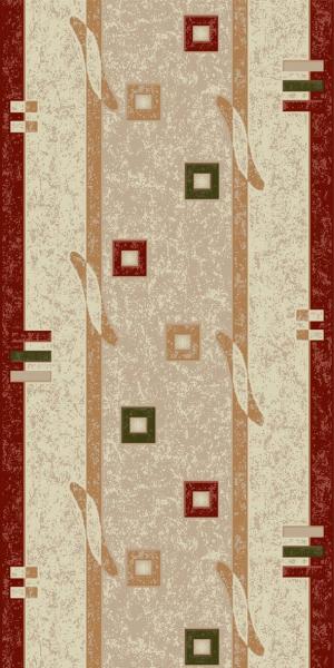 Traversa Covor, Lotos 579, Crem / Rosu, 80x400 cm, 1800 gr/mp [0]