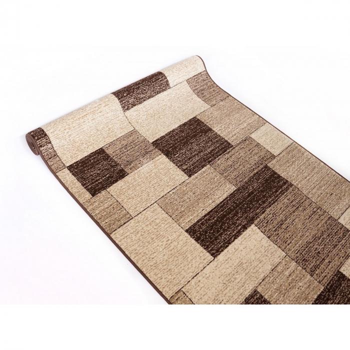 Traversa Covor, Daffi 13027-140, Bej/Maro, 60x700 cm, 1700 gr/mp 4