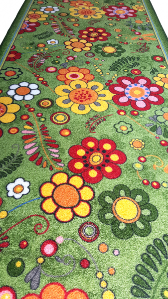 Traversa Flori, Verde, 100x400 cm, 820 gr/mp [1]