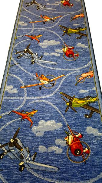 Traversa pentru Copii, Avioane, Albastru, 100x300 cm, 820 gr/mp 1
