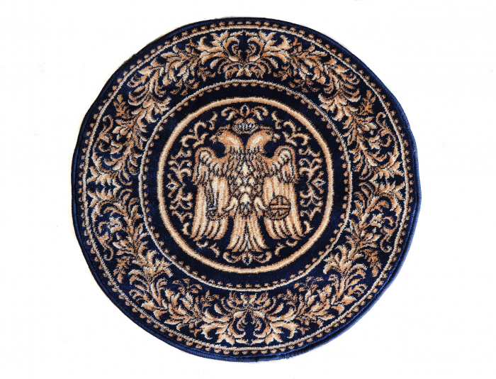 Covor Lotos, Model Bisericesc, 15032, Albastru, Rotund, 200x200 cm, 1800 gr/mp 1