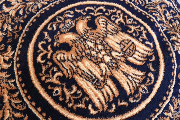 Covor Lotos, Model Bisericesc, 15032, Albastru, Rotund, 100x100 cm, 1800 gr/mp 2