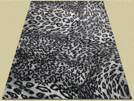 Covor Modern, Kolibri Leopard 11066, Alb / Negru, 80x150 cm, 2300 gr/mp2