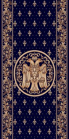 Traversa Covor, Lotos 15032, Albastru, Model Bisericesc, Latime 150 cm, Diverse Lungimi0
