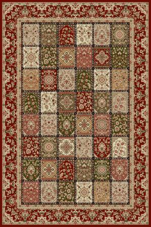 Covor Modern, Lotos 1518, Rosu, 100x200 cm, 1800 gr/mp0