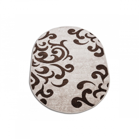 Covor Modern, Cappuccino 16028, Oval, 80x150 cm, 1700 gr/mp1